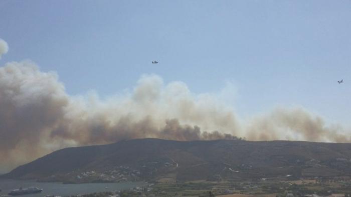 Σε εξέλιξη φωτιά στην Άνδρο, στην περιοχή του Φελλού-Δείτε φωτο - εικόνα 6
