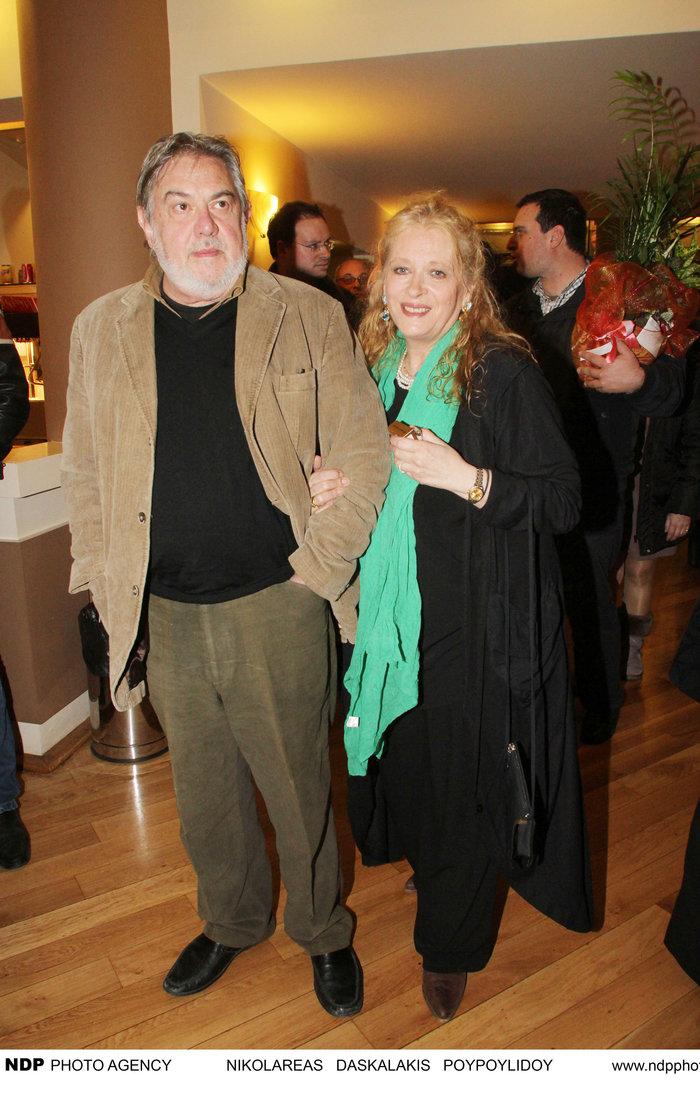 Με το σύζυγό της, Ερρίκο Ανδρέου.