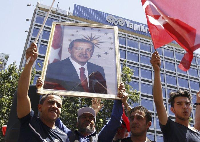 Υποστηρικτές του τούρκου προέδρου