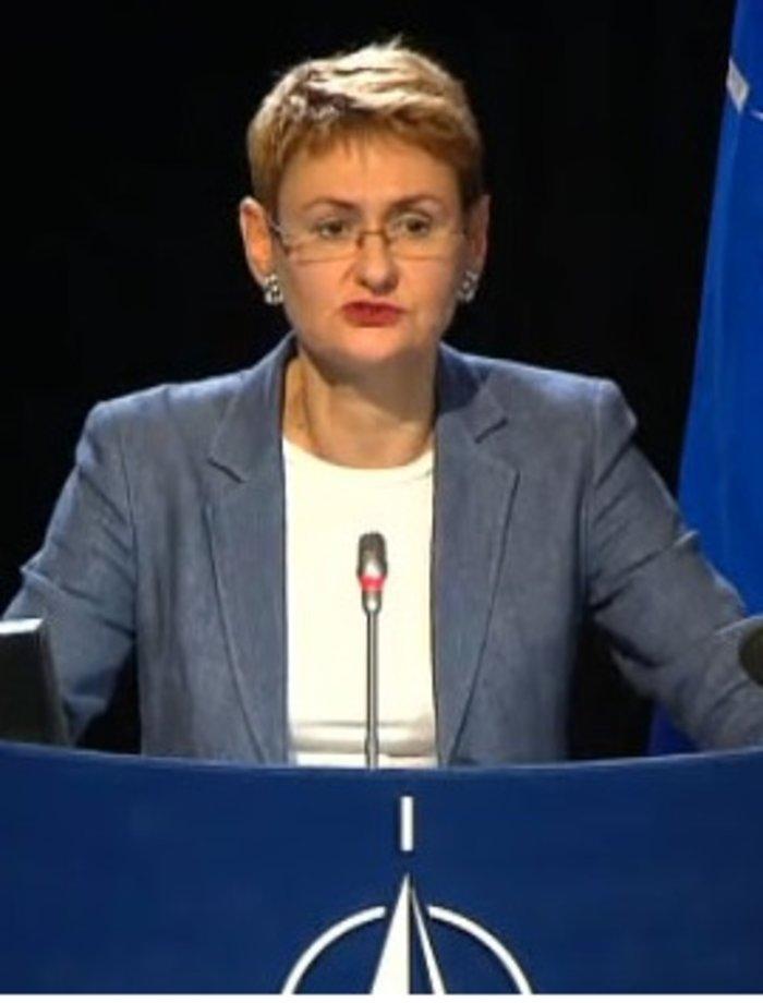 H Οάνα Λουνγκέσκου, εκπρόσωπος τoυ NATO