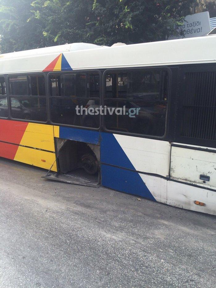 Εφυγε τροχός από λεωφορείο και τραυμάτισε πεζο!