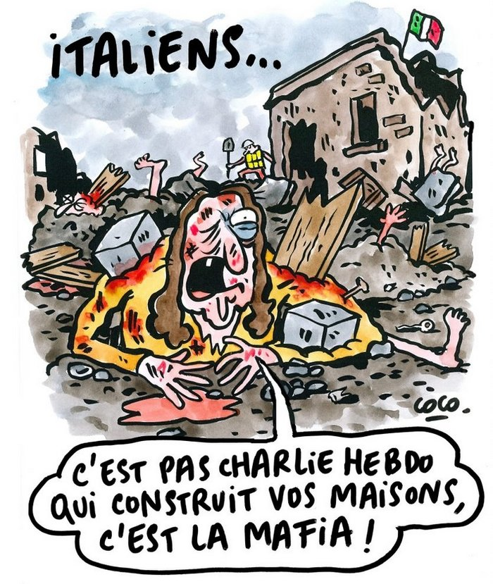 Οργή με σκίτσο για τα θύματα του σεισμού στην Ιταλία - εικόνα 2