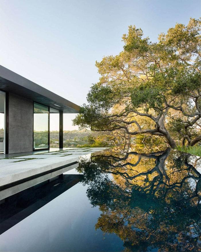 Ένα πανέμορφο γυάλινο σπίτι σε ένα δάσος με βελανιδιές - εικόνα 6