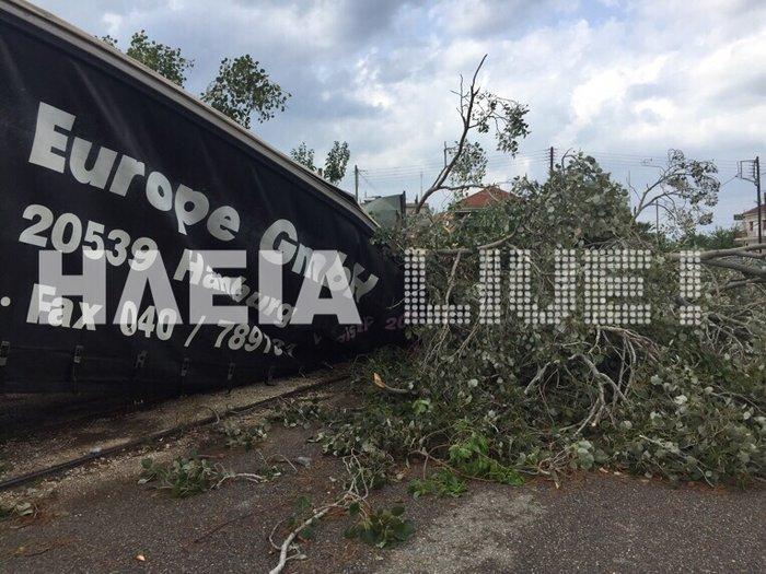 Τυφώνας σάρωσε την Ηλεία- ΦΩΤΟ και VIDEO