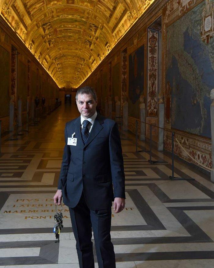 Ο κλειδοκράτορας Alessio Censon. Ξεκλειδώνει πάνω από 300 σκάλες όταν χαράξει.