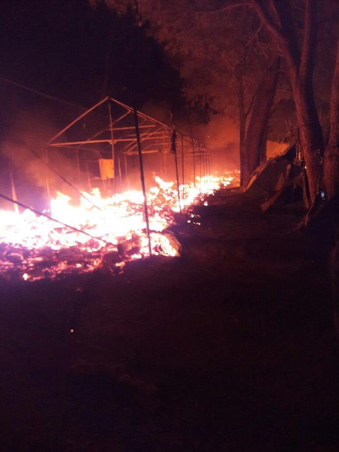 Λέσβος: Aγριες συμπλοκές στο hotspot της Μόριας