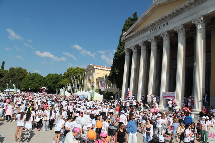 Oι Αθηναίοι έτρεξαν για τον καρκίνο του μαστού [Εικόνες]