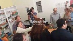 Ειρηνικό...ντου στα γραφεία του ΣΥΡΙΖΑ στην Ιεράπετρα  video