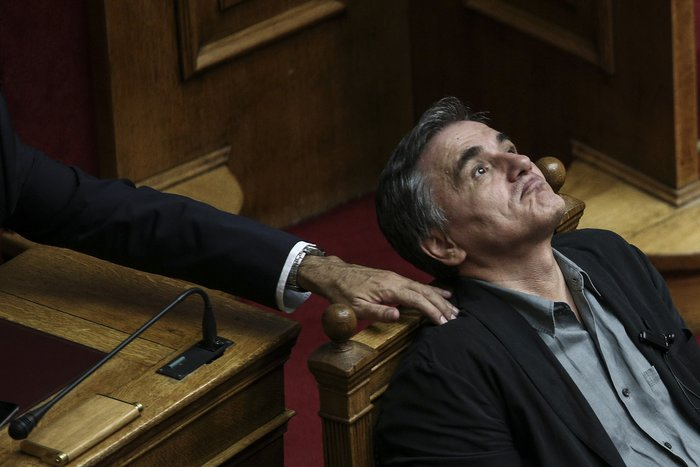 Ο υπουργός Οικονομικών Ευκλείδης Τσακαλώτος κατά τη διάρκεια συνεδρίασης της Βουλής