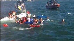 Σκάφος με 30 επιβαίνοντες ανετράπη στον κόλπο του Σαν Φρανσίσκο (βίντεο)