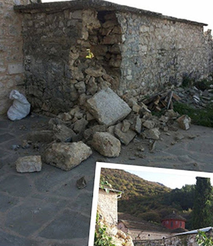 Ζημιές σε μοναστήρι του 11ου αιώνα από τον σεισμό στα Ιωάννινα - εικόνα 4