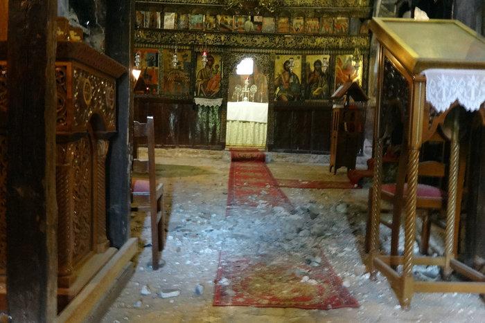 Ζημιές σε μοναστήρι του 11ου αιώνα από τον σεισμό στα Ιωάννινα
