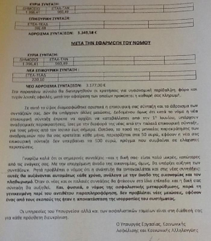 Κατρούγκαλος: Με επιστολή προπαγάνδας εμπαίζει τους συνταξιούχους - εικόνα 2
