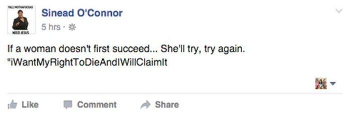 Το Facebook κατέβασε τη σελίδα της Σίνεντ Ο' Κόνορ