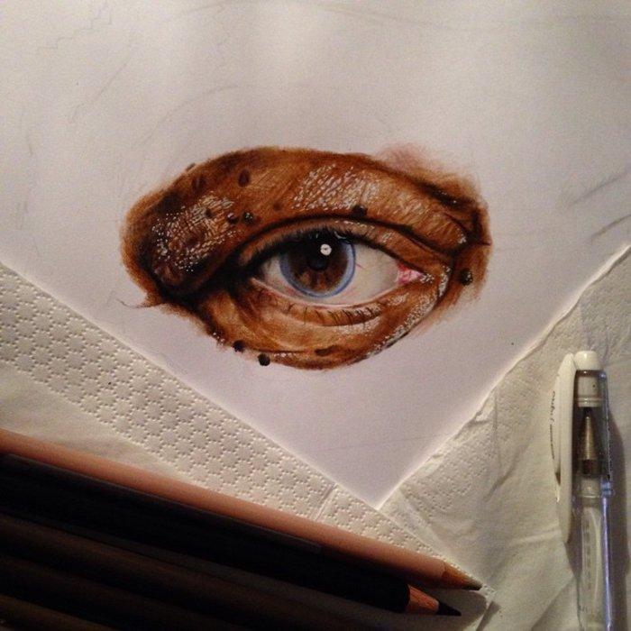 Ταλαντούχος 18χρονος ζωγραφίζει σταρ του Χόλιγουντ με απίστευτη ακρίβεια! - εικόνα 3