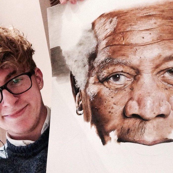 Ταλαντούχος 18χρονος ζωγραφίζει σταρ του Χόλιγουντ με απίστευτη ακρίβεια! - εικόνα 5