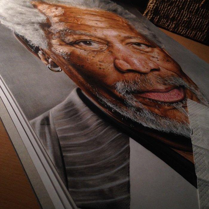 Ταλαντούχος 18χρονος ζωγραφίζει σταρ του Χόλιγουντ με απίστευτη ακρίβεια! - εικόνα 7