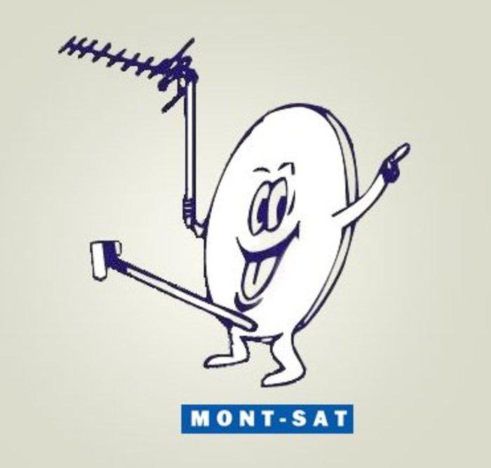 Η Mont-Sat είναι μια πολωνική εταιρεία της οποίας οι τεχνικοί είναι πολύ ευτυχισμένοι όταν εγκαθιστούν ένα δορυφόρο στο σπίτι ή την επιχείρησή σας. Ποτέ δεν άλλαξε το ζωηρό λογότυπό της.