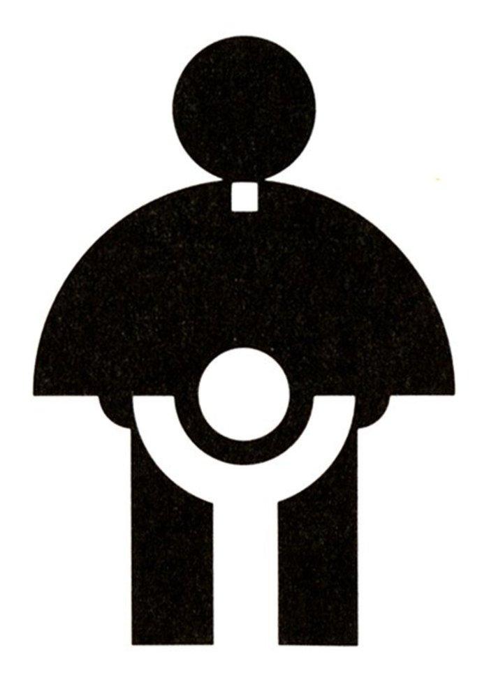 Η ένωση σχεδιαστών AIGA θεωρεί το λογότυπο του 1974 της Αρχιεπισκοπικής Επιτροπής Νεολαίας της Καθολικής Εκκλησίας παράδειγμα μεγάλου σχεδίου. Κακώς.