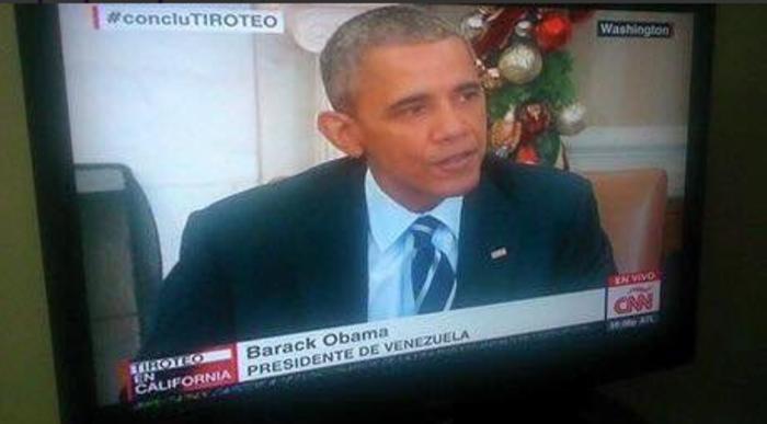 Γκάφα του CNN: Ομπάμα ο... πρόεδρος της Βενεζουέλας!