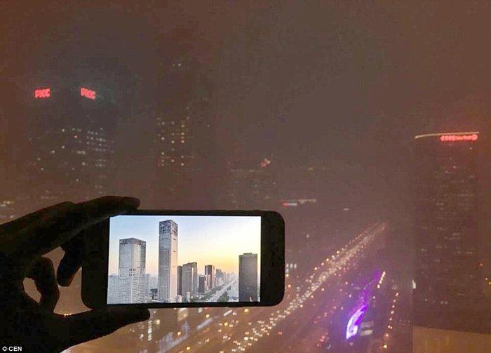 Το περίγραμμα των ουρανοξυστών στην κεντρική επιχειρηματική περιοχή του Πεκίνου