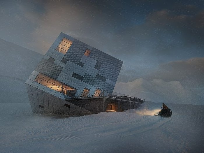 Ενας κύβος ριγμένος στο χιόνι κρύβει ένα ασύλληπτο καταφύγιο! - εικόνα 3