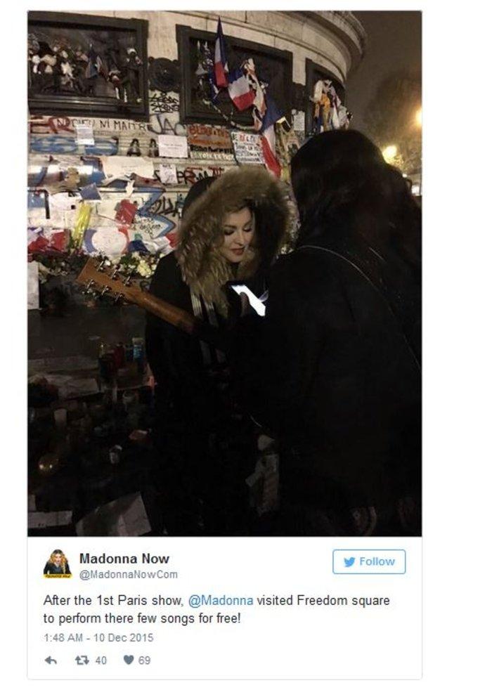 Συναυλία-έκπληξη της Μαντόνα στην Place de la République - εικόνα 2