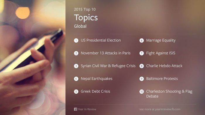 Η ελληνική κρίση στα 10 κορυφαία γεγονότα του 2015 στο Facebook