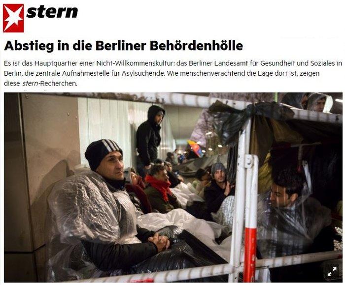 Αθλιες συνθήκες διαβίωσης των προσφύγων στο Βερολίνο