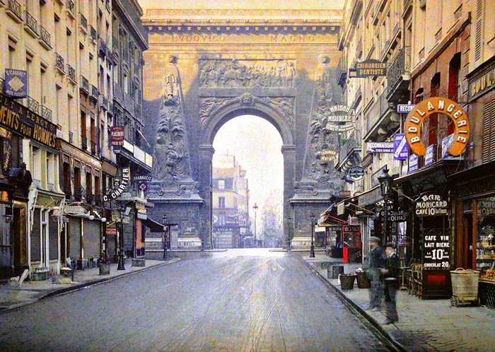 Σπάνιες έγχρωμες φωτογραφίες από το Παρίσι του 1914 - εικόνα 7