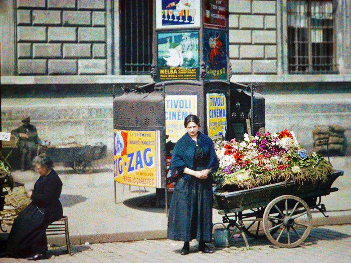 Σπάνιες έγχρωμες φωτογραφίες από το Παρίσι του 1914 - εικόνα 11