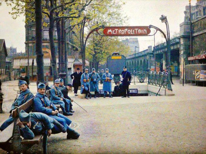 Σπάνιες έγχρωμες φωτογραφίες από το Παρίσι του 1914 - εικόνα 13