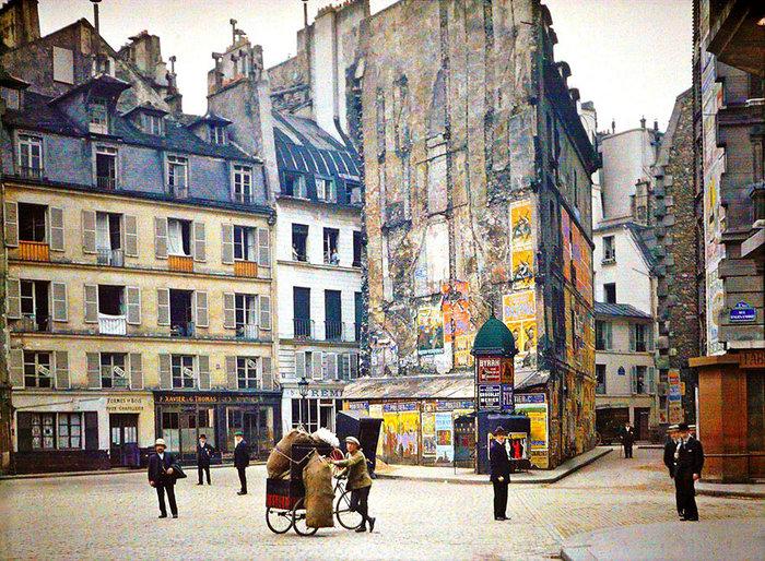Σπάνιες έγχρωμες φωτογραφίες από το Παρίσι του 1914 - εικόνα 19