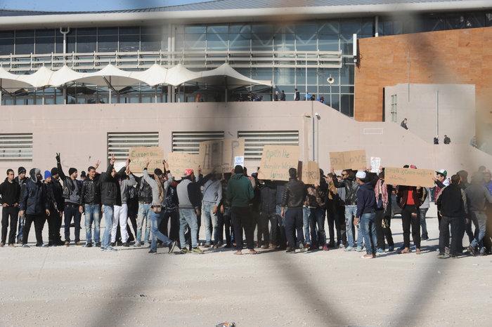 Διαμαρτυρία των Μαροκινών μεταναστών στο Ταεκβοντο