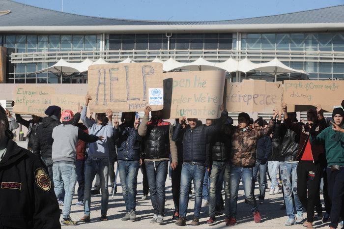 Διαμαρτυρία των Μαροκινών μεταναστών στο Ταεκβοντο - εικόνα 2