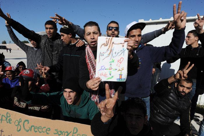 Διαμαρτυρία των Μαροκινών μεταναστών στο Ταεκβοντο - εικόνα 3
