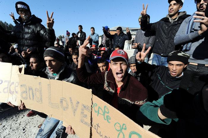 Διαμαρτυρία των Μαροκινών μεταναστών στο Ταεκβοντο - εικόνα 4