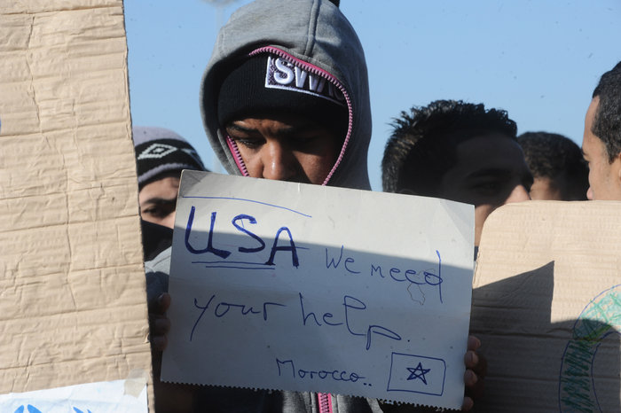 Διαμαρτυρία των Μαροκινών μεταναστών στο Ταεκβοντο - εικόνα 6
