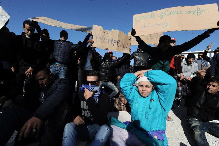 Διαμαρτυρία των Μαροκινών μεταναστών στο Ταεκβοντο - εικόνα 9