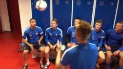 Ποδοσφαιρική ομάδα κάνει προθέρμανση με... 54 κεφαλιές  -βίντεο