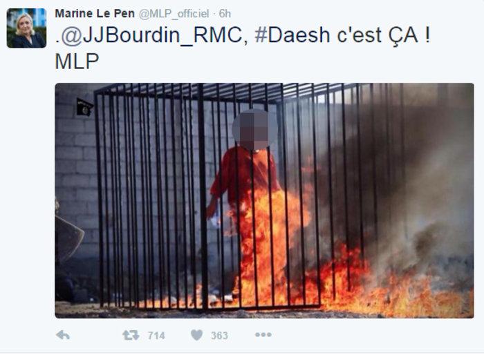 Εξαλλη η Λεπέν ανέβασε φωτογραφίες εκτελέσεων του ISIS στο Τwitter - εικόνα 2