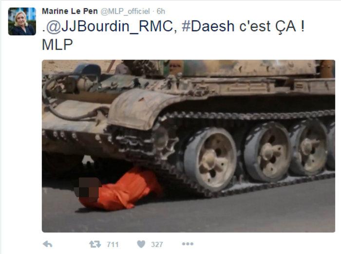 Εξαλλη η Λεπέν ανέβασε φωτογραφίες εκτελέσεων του ISIS στο Τwitter - εικόνα 3