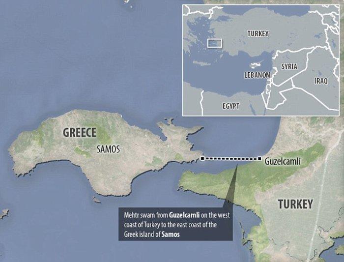 Σύρος πρόσφυγας κολυμπούσε εφτά ώρες από την Τουρκία ως τη Σάμο - εικόνα 2