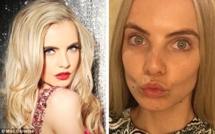 Η Μις Ιρλανδία, 21 ετών, αφαίρεσε το μακιγιάζ της και έστειλε ένα φιλί στους θαυμαστές της.