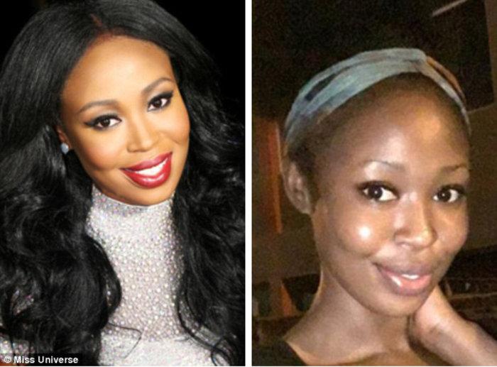 H 26χρονη Μις Γκάνα Hilda Frimpong δείχνει πολύ νεότερη χωρίς το μακιγιάζ.