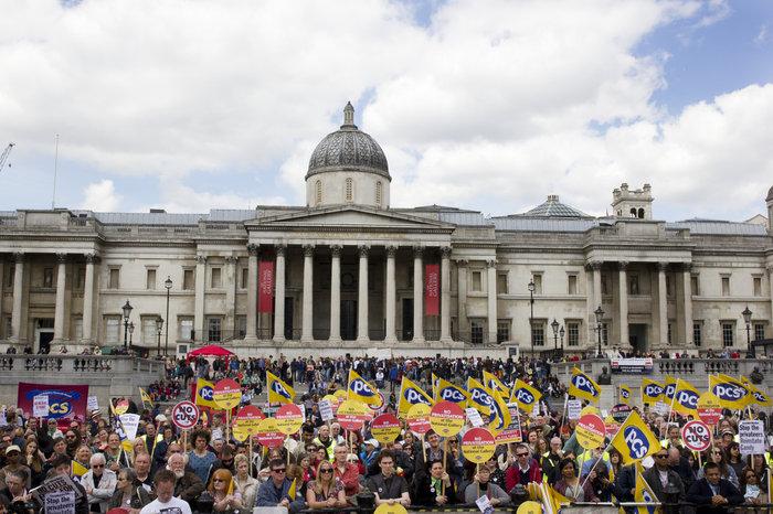 Διαμαρτυρία έξω από την Εθνική Πινακοθήκη του Λονδίνου