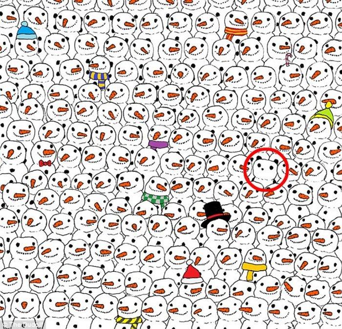 Το κουίζ που σαρώνει: Βρείτε το Panda ανάμεσα στους χιονάνθρωπους - εικόνα 2