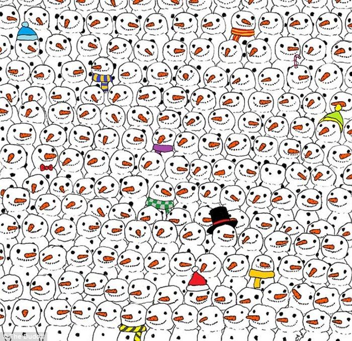 Το κουίζ που σαρώνει: Βρείτε το Panda ανάμεσα στους χιονάνθρωπους