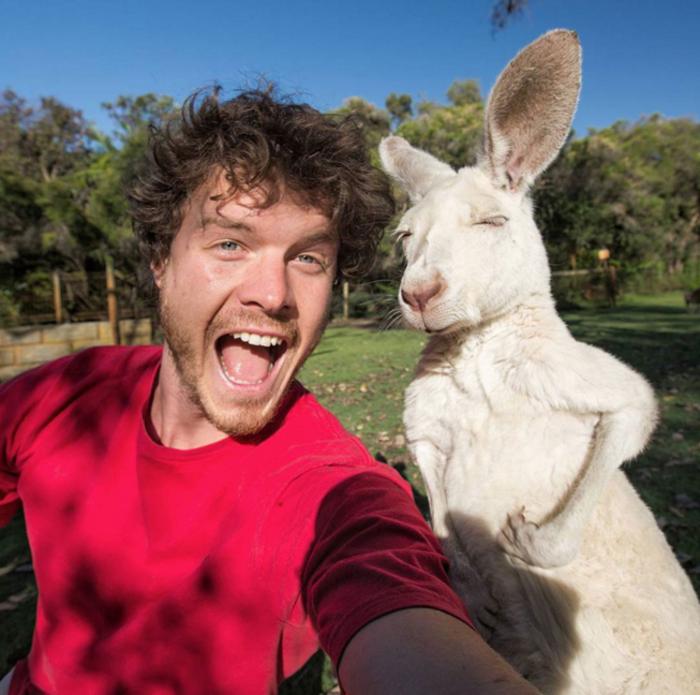 Αυτός είναι ο βασιλιάς των selfie: Φωτογραφίζεται με ζώα - εικόνα 2