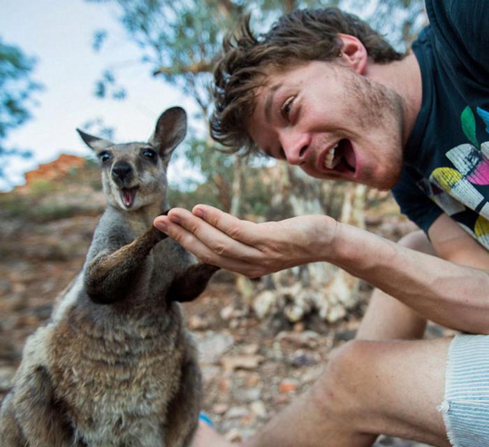 Αυτός είναι ο βασιλιάς των selfie: Φωτογραφίζεται με ζώα - εικόνα 11